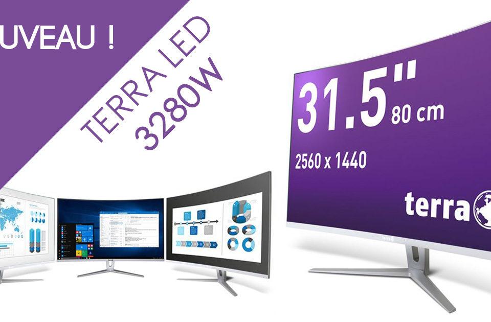 écran incurvé 31,5 pouces terra led 3280W