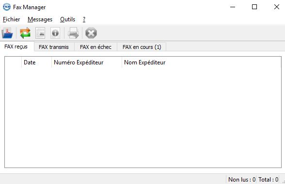 Fax manager menu